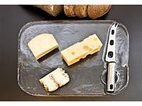 Käseplatte mit Messer 350 x 270 x 20 mm
