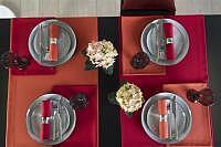 Tischläufer Loft weinrot 50x140cm Fb. 26