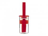 Bistro Marinadenglas mit Silikonpinsel..