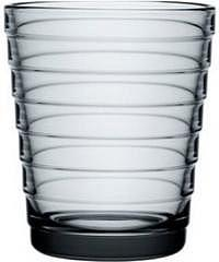 Aino Aalto Glas 2er Set grau 22 cl
