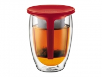 BODUM Tea for One Glas 0.35l Filter rot