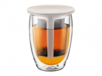 BODUM Tea for One Glas 0.35l Filter cr..