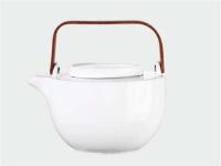 CHAVA Teekanne oval weiss 1.25l