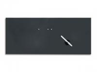 Glasmagnetwand black 30x80cm