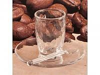 Espresso-Becher m. Teller u. Löffel