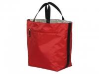 Reversibel Einkaufstasche rot-hellgrau