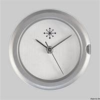 Uhrwerk C101 Edelstahl matt ohne Ziffe..