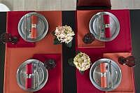 Tischset Loft rot 35x50cm Fb. 01
