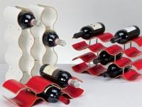 Weinregal Formholz rot für 5 Flaschen