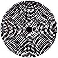 Tablett Fokus 46cm rund weiss/schwarz