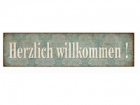 """Schild """"Herzlich Willkommen"""""""