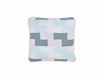 Kissenhülle Muchy Tetris blau-grau 45x..