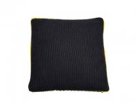 Kissenhülle Muchy Cable schwarz-gelb 4..