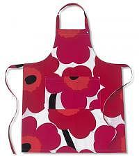 Küchenschürze Ruutu-Unikko rot-pink