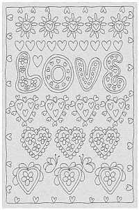 """Ausmaltuch """"Love"""" schwarz"""
