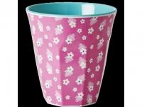 RICE Melaminbecher medium Flower Print..
