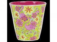 RICE Melaminbecher medium Flamingo Pri..