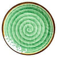 RICE Melaminteller Swirl Print Green 2..