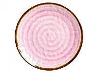 RICE Melaminteller Swirl Print Pink 23cm