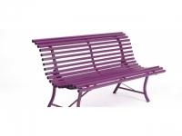 Louisiane Bank 150 cm aubergine