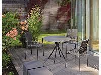 Lodge/Nizza Bistro-Tisch rund aluminiu..