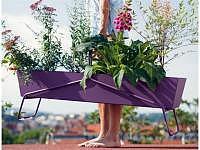 Basket Blumenkasten lang aubergine