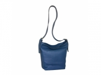 Latina neu Ledertasche gross blau