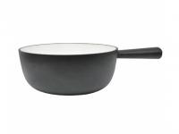 Caquelon Gusseisen schwarz 22cm