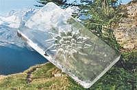 Edelweiss Butterplatte 160 x 90  mm