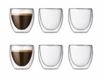BODUM Pavina Glas 0.08l 6er-Set doppelwandig