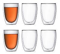 BODUM doppelwandiges Glas Pavina 0.35 l 6er-Set