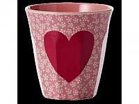 RICE Melaminbecher medium Heart Print 2dl