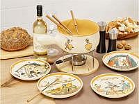 Rheinfelder Keramik Fondue-Set Carigiet 6-teilig